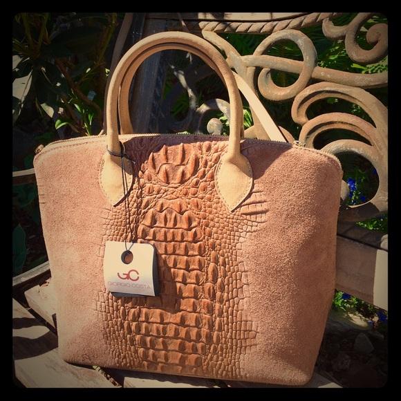 Giorgio Costa Bags   Gorgeous Leather Tote Nwt 300   Poshmark 84da272d70