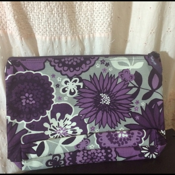 312c233aadf5 Thirty-One Bags | Brand New Large Purple Floral Zip Pouch | Poshmark