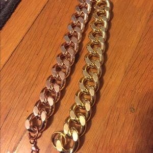Jewelry - Yellow and Rose Gold Chain Bracelets