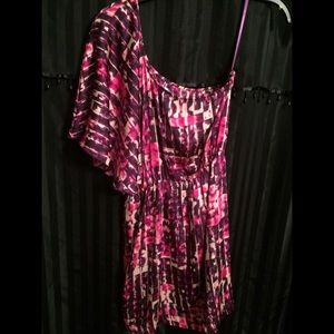 Collective Concepts One Shoulder TyeDye Mini Dress