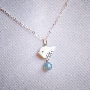 Sterling Silver Bird & Swarovski Crystal Necklace