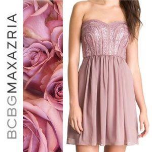 NEW! BCBG dress in mauve pink.