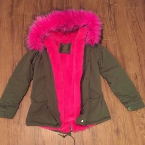 Canvas Fur Lined Parka for @bleubleu