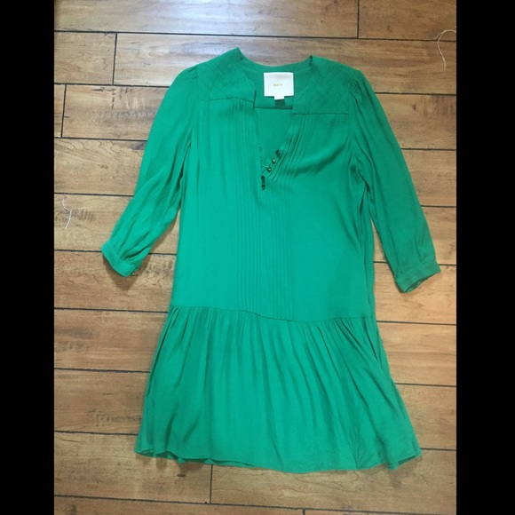 Kelly green long sleeve dress shirt
