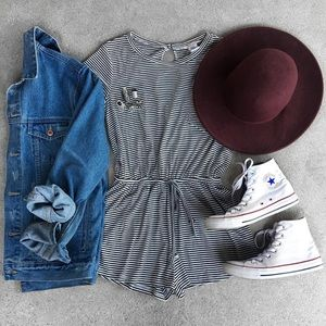 Striped Romper