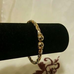 2 Tone Gold Bangle Bracelet