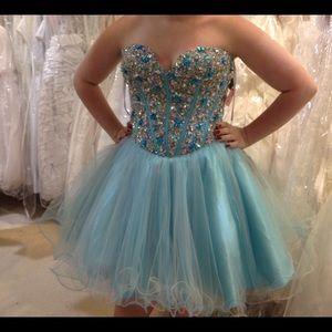 Terani Couture Dresses & Skirts - Terani Couture Blue Prom Dress