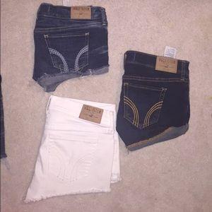 2 Pairs of Hollister Jean Shorts Denim