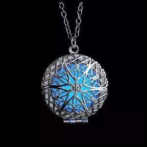 Jewelry - ED33 Glow In The Dark Silver Charm Necklace