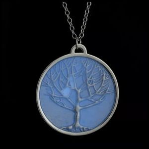 Jewelry - ED33 Glow In The Dark Tree Of Life Silver Necklace