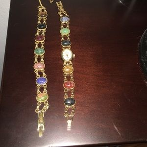 Jewelry - Watch with matching bracelet multi stone
