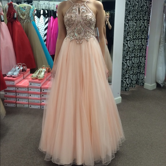 Jovani Dresses | Peach Ball Gown Dress | Poshmark