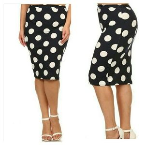 19 dresses skirts plus size navy and white polka