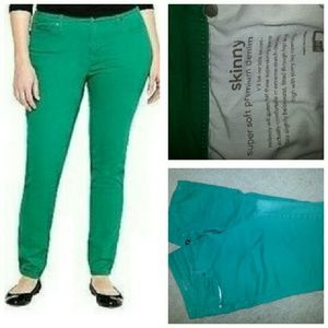 21cd58e2800 jcpenney Jeans - JC Penny s Green Plus Size Skinny Jeans