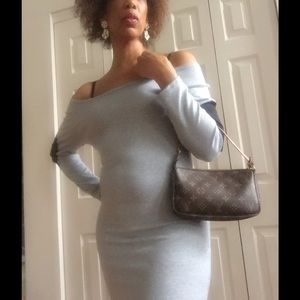 DARLING Dresses & Skirts - 🆕 CUTE GRAY ELBOW PATCH OFF SHOULDER DRESS
