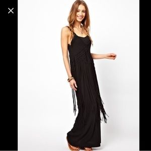 Denim & Supply crochet fringe maxi-dress.
