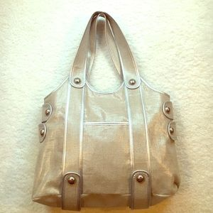 Banana Republic Handbags - BANANA REPUBLIC silver Handbag