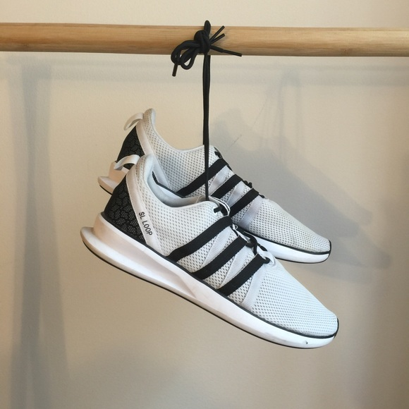 cheap for discount 094e2 09d9f Adidas Shoes - White Adidas SL Loop size 11