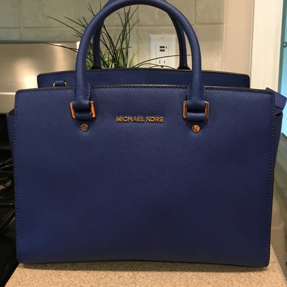 Mk royal blue tote