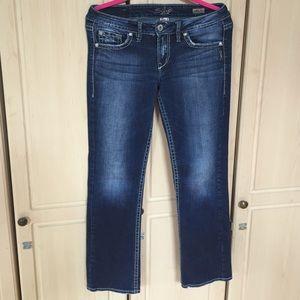 """Silver Bootcut Jeans - Lola 17"""" - Size W28/L31"""