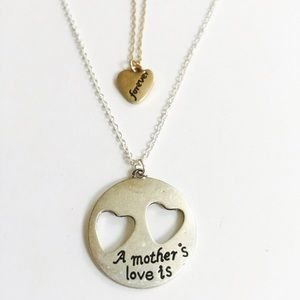 Farah Jewelry Jewelry - Mothers love is forever cutout heart necklace