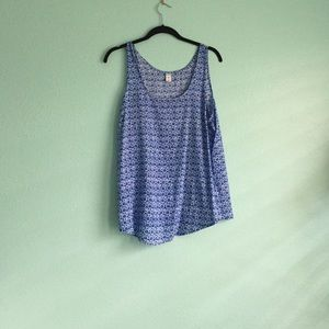 Old Navy Blue Mosaic Tank