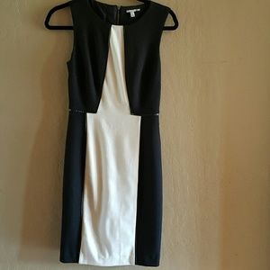 Halogen Dresses & Skirts - Colorblock Black and White Sheath Dress