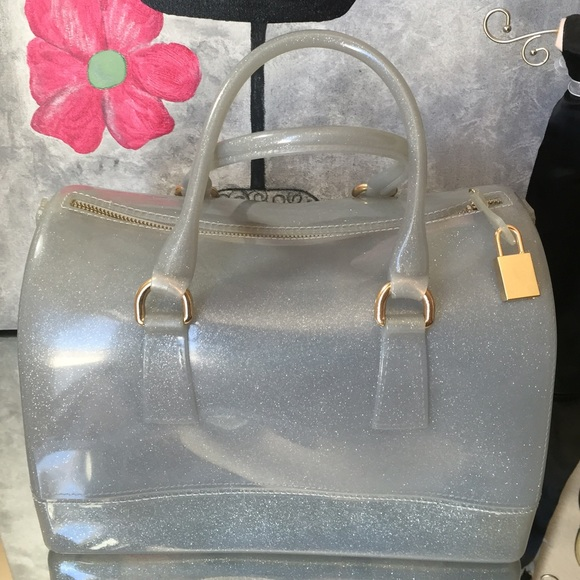 Handbags - Grey Jelly Bag NWT