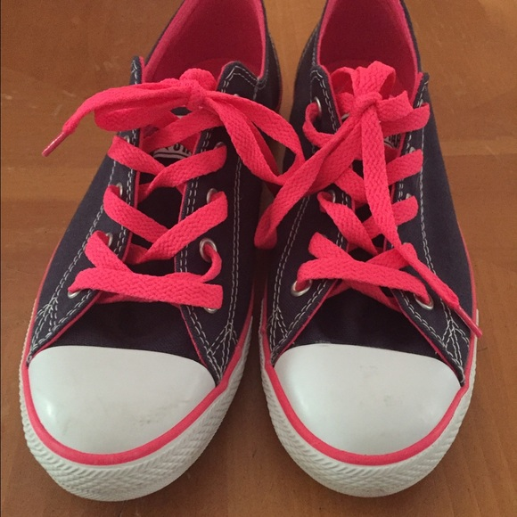 e68c03246170da Converse Shoes - NEW Hot pink navy blue Converse All Stars