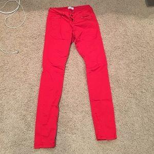 Motivi Pants - Fire Red Pants