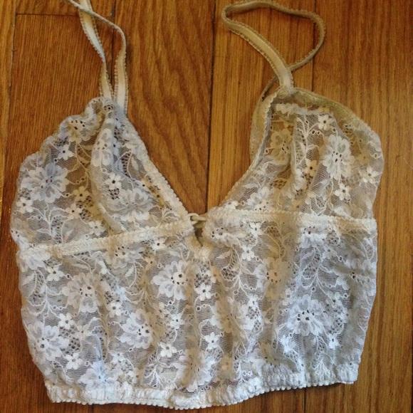 1f442ed83 Vintage White Parisian French Lace Bra Bralette. M 573382e699086af32000c72c