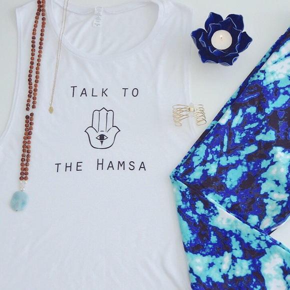 Hibiskiss Clothing Tops - Talk to the Hamsa Muscle Tank