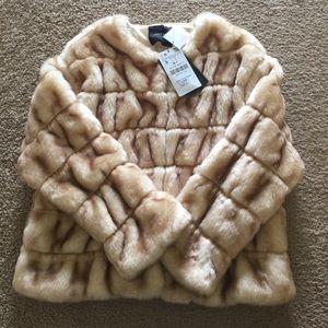 elegant faux fur jacket by Zara knit!!!