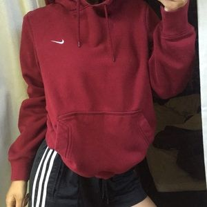 burgundy nike jacket womens