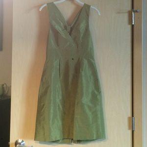 "J.Crew 100% Silk ""Alisanne"" Dress, organic green"