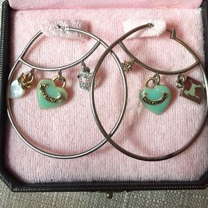 Juicy Couture Charm Hoops