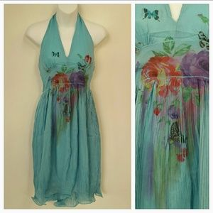 Flowers and Butterflies Dress NWT