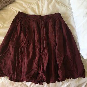 Brandy Melville Dresses & Skirts - Maroon skater skirt from Brandy Melville