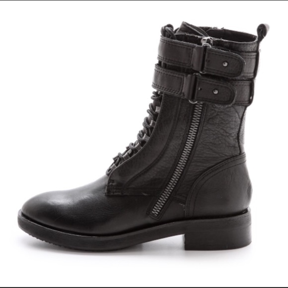 62% off Dolce Vita Shoes - Dolce Vita Nolee Black Leather Combat ...