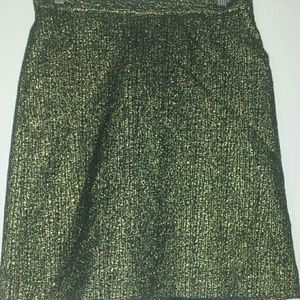 Gold Lacquered Pencil Skirt