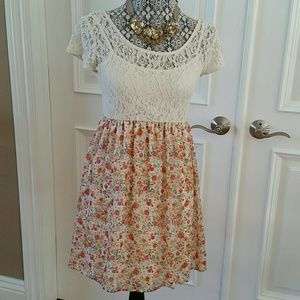 Accidentally in Love Dresses & Skirts - Floral and lace dress