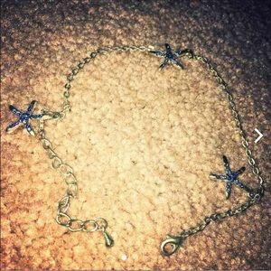 ❤️Blue starfish anklet/bracelet