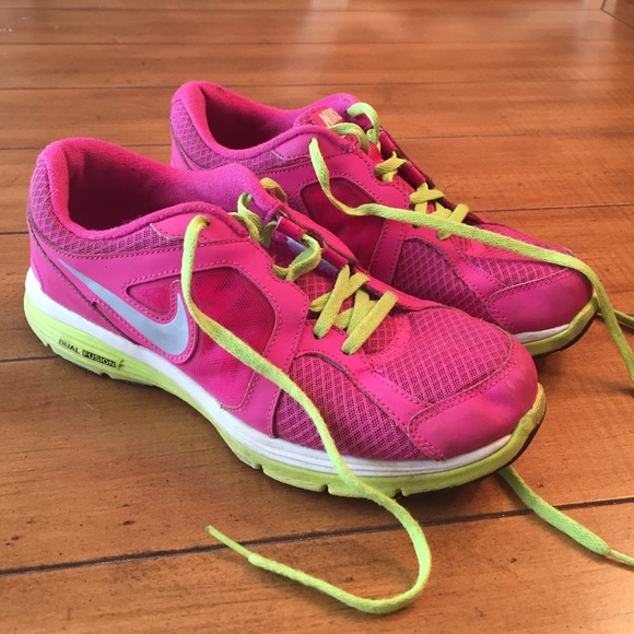 87 nike shoes nike dual fusion lime green pink
