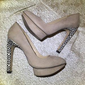 Zara Shoes - Zara Aztec Tribal Heels