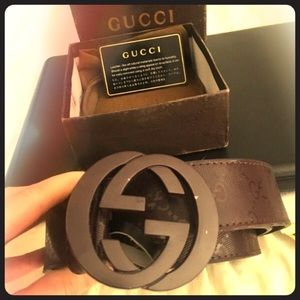 Brand New In The Box Brown Leather Gucci Belt