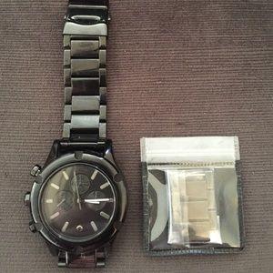 Nixon Camden chronic watch in black