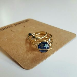 Planet Mid Knuckle ring set