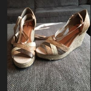 Old Navy lace up wedges