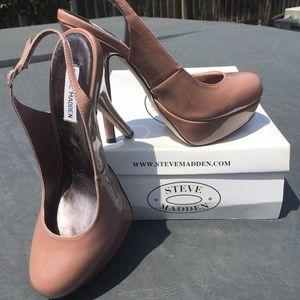 Steve Madden Blush Patent Slingback Heels