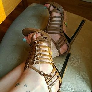 L.A.M.B. cage heels size 8
